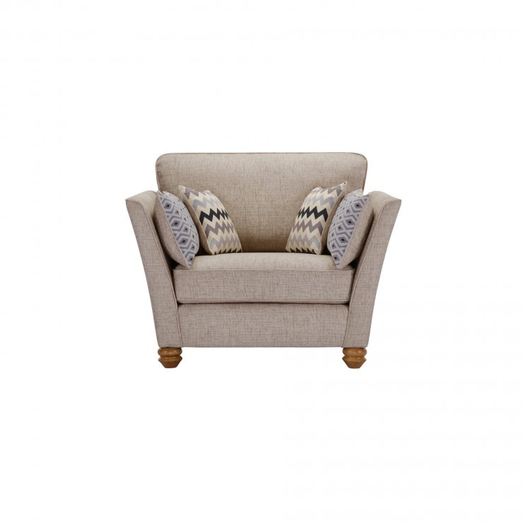 Gainsborough Loveseat in Silver with Silver Scatters - Image 1