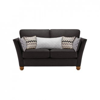 Gainsborough 2 Seater Sofa in Black with Silver Scatters
