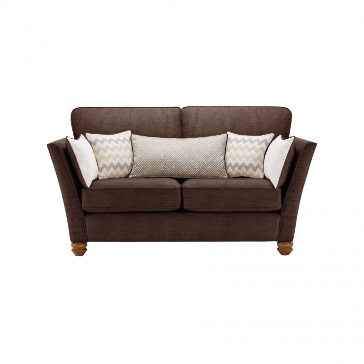 Gainsborough 2 Seater Sofa in Brown with Beige Scatters