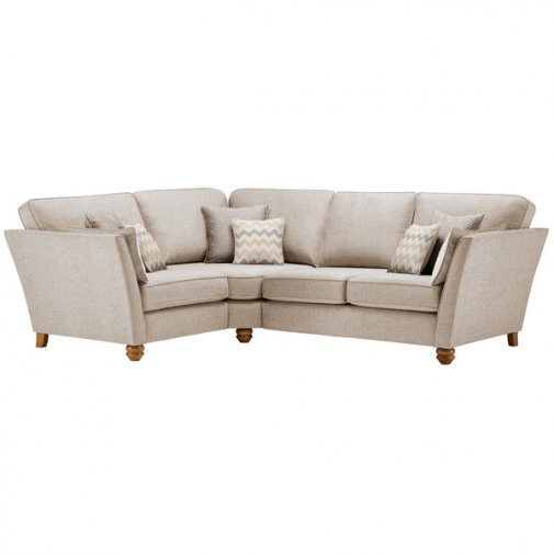 Gainsborough Right Hand Corner Sofa in Beige with Beige Scatters