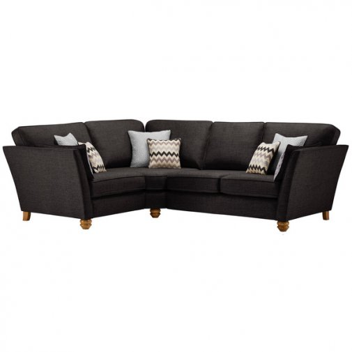 Gainsborough Right Hand Corner Sofa in Black with Silver Scatters