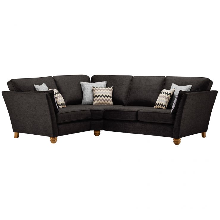 Gainsborough Right Hand Corner Sofa in Black with Silver Scatters - Image 1