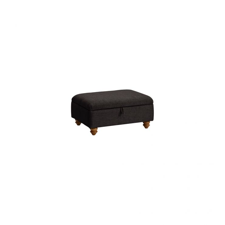 Gainsborough Storage Footstool in Black