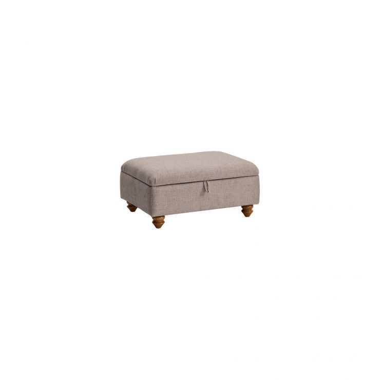 Gainsborough Storage Footstool in Silver - Image 1
