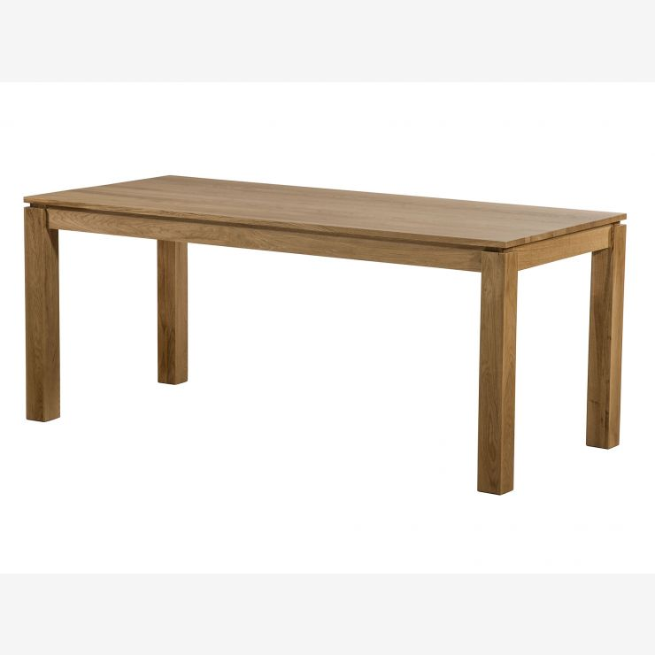 "Galway Natural Solid Oak 6ft x 2ft 8"" Dining Table - Image 5"