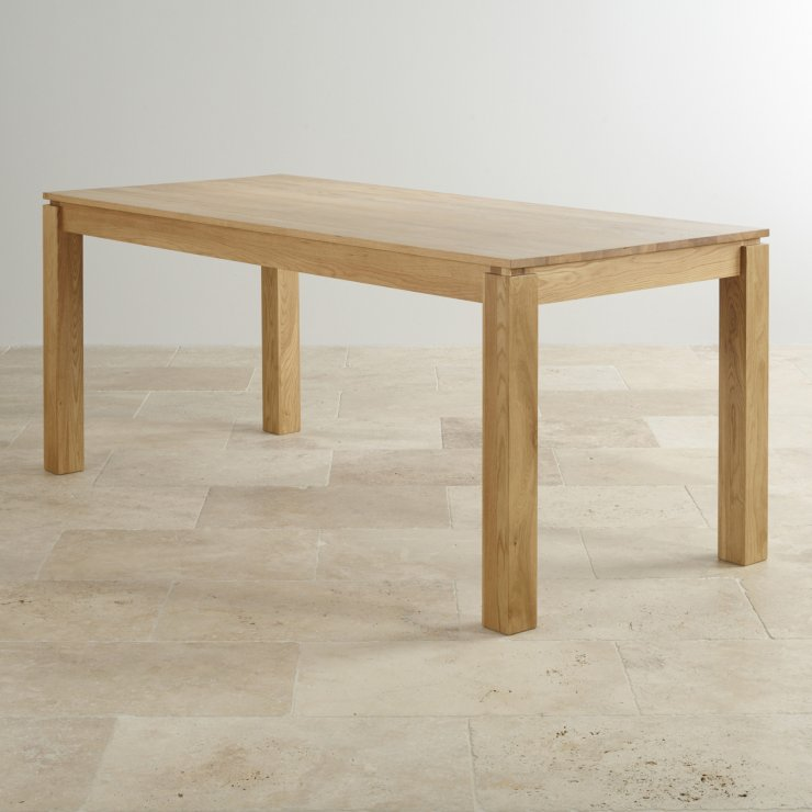 "Galway Natural Solid Oak 6ft x 2ft 8"" Dining Table"