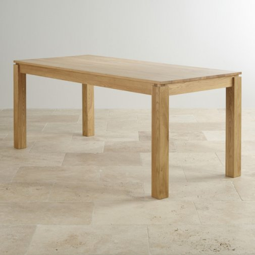 """Galway Natural Solid Oak 6ft x 2ft 8"""" Dining Table"""