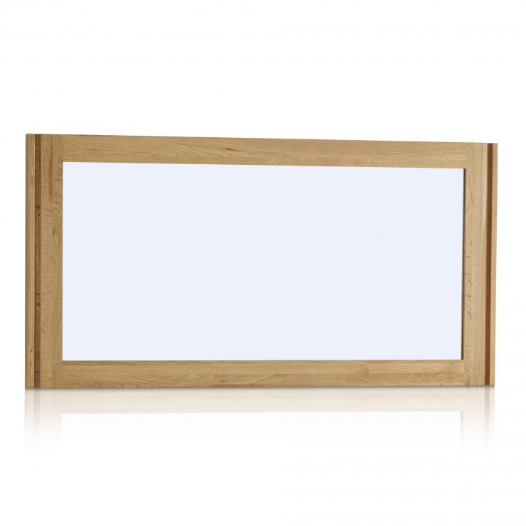 Galway Natural Solid Oak 1200mm x 600mm Wall Mirror - Image 4