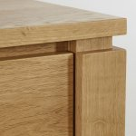 Galway Natural Solid Oak 3 Drawer Bedside Table - Thumbnail 5