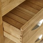 Galway Natural Solid Oak 3 Drawer Bedside Table - Thumbnail 6