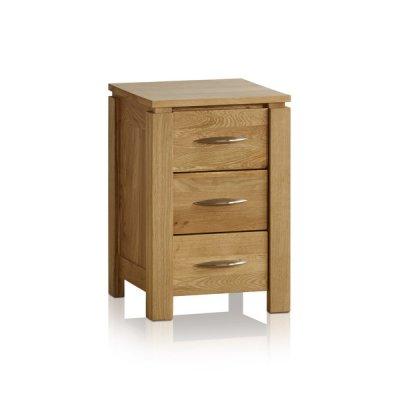 Galway Natural Solid Oak 3 Drawer Bedside Table
