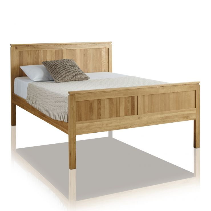 "Galway Natural Solid Oak 4ft 6"" Double Bed - Image 4"