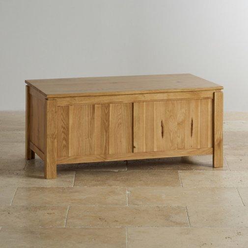 Galway Natural Solid Oak Blanket Box