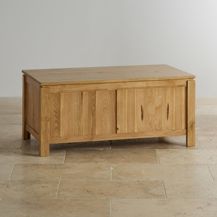 Galway Natural Solid Oak Blanket Box