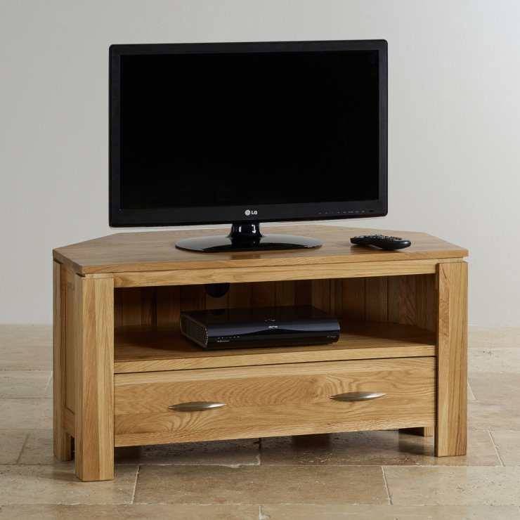 Galway Natural Solid Oak Corner TV Cabinet