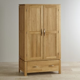 Galway Natural Solid Oak Double Wardrobe