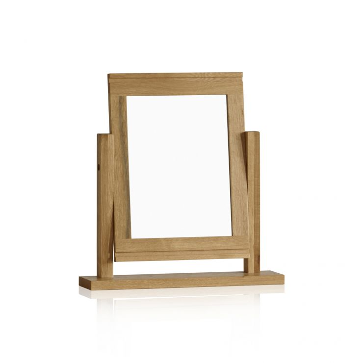 Galway Natural Solid Oak Dressing Table Mirror - Image 4