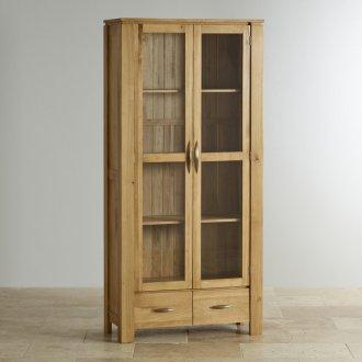 Galway Natural Solid Oak Glazed Display Cabinet