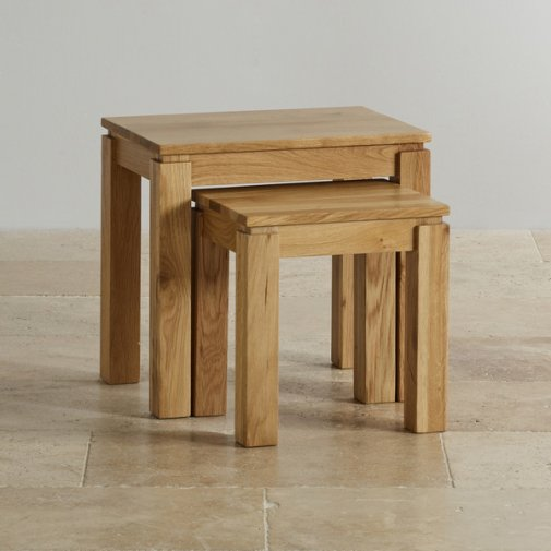 Galway Natural Solid Oak Nest of 2 Tables