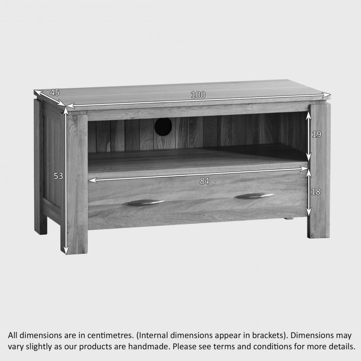 Galway Natural Solid Oak Small TV Cabinet