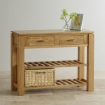 Galway Natural  Solid Oak Console Table - Thumbnail 2