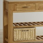 Galway Natural  Solid Oak Console Table - Thumbnail 3