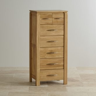 Galway Natural Solid Oak 5+2 Drawer Tallboy