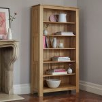 Galway Natural Solid Oak Tall Bookcase - Thumbnail 2