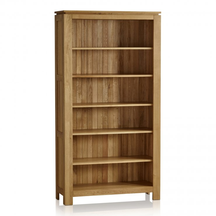 Galway Natural Solid Oak Tall Bookcase - Image 5