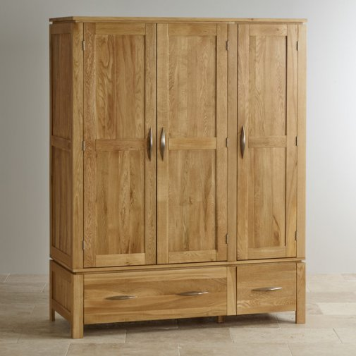 Galway Natural Solid Oak Triple Wardrobe