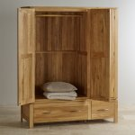 Galway Natural Solid Oak Triple Wardrobe - Thumbnail 2