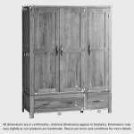 Galway Natural Solid Oak Triple Wardrobe - Thumbnail 6