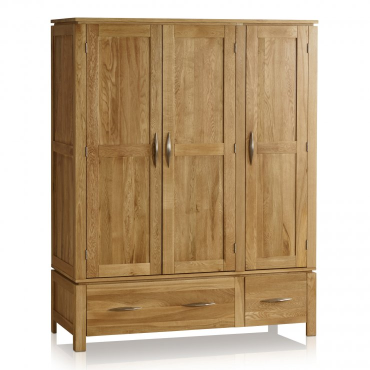 Galway Natural Solid Oak Triple Wardrobe - Image 6