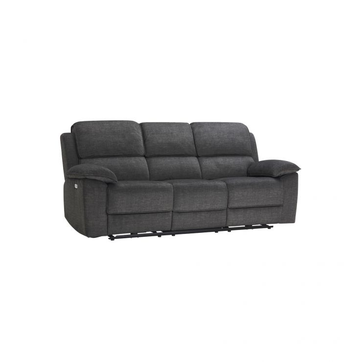 Goodwood Charcoal 3 Seater Electric Recliner Sofa