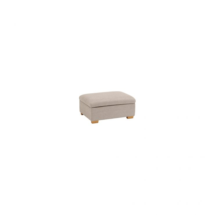 Goodwood Storage Footstool in Silver - Image 2