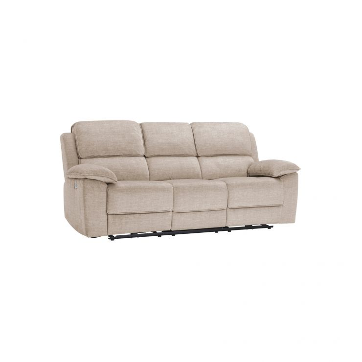 Goodwood Silver 3 Seater Electric Recliner Sofa