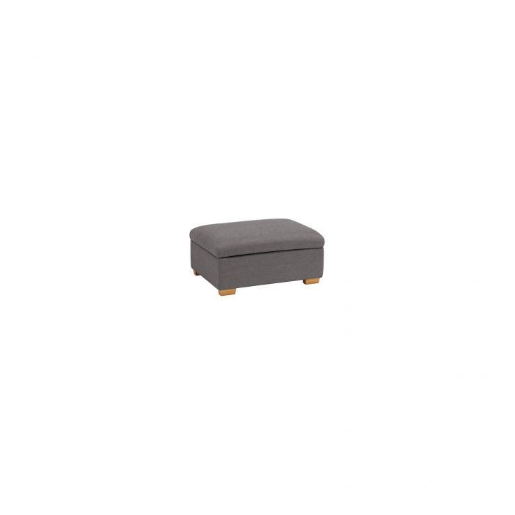 Goodwood Storage Footstool in Charcoal