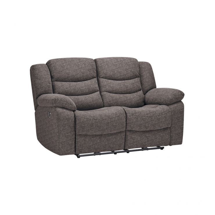 Grayson 2 Seater Electric Recliner Sofa - Charcoal Fabric
