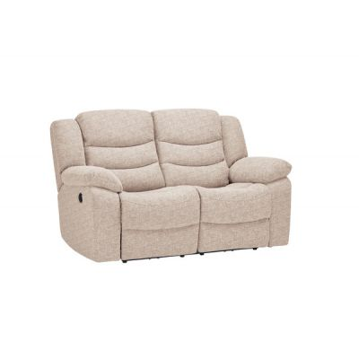 Grayson 2 Seater Electric Recliner Sofa - Oatmeal Fabric