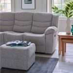 Grayson 3 Seater Electric Recliner Sofa - Silver Fabric - Thumbnail 3