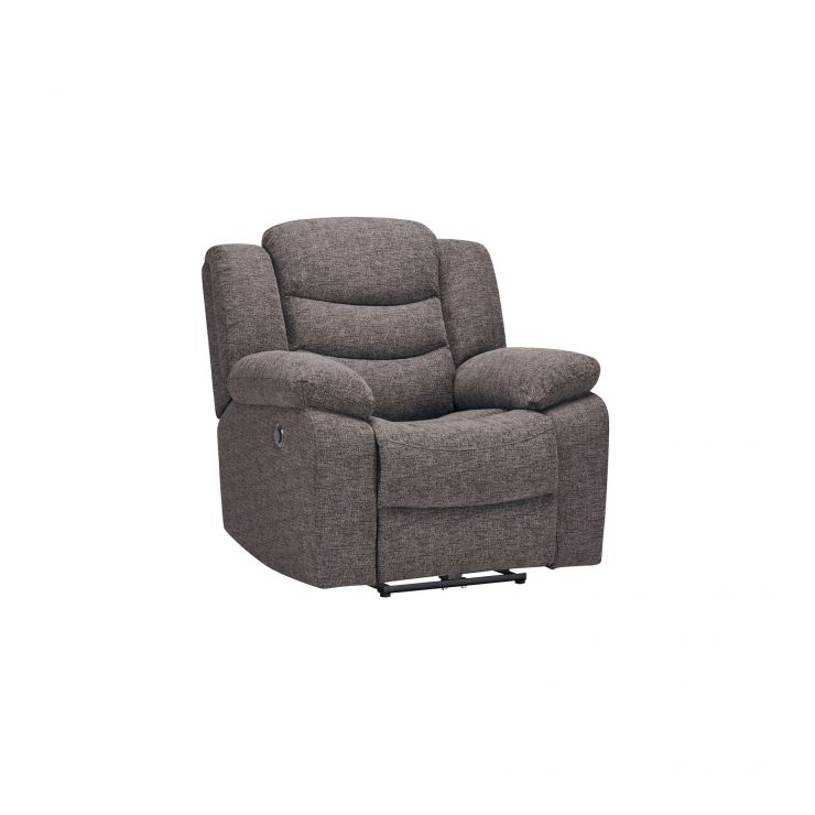 Grayson Electric Recliner Armchair - Charcoal Fabric