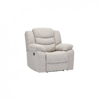 Grayson Electric Recliner Armchair - Silver Fabric