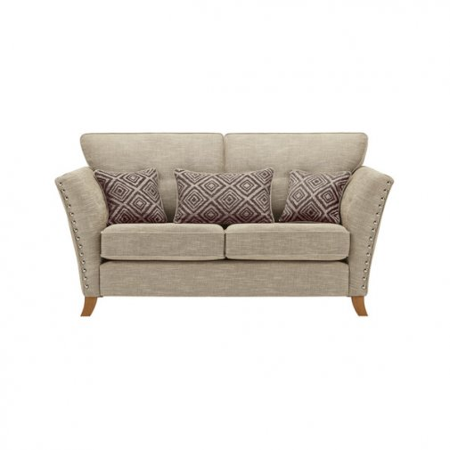 Grosvenor 2 Seater Sofa in Beige with Grey Scatters
