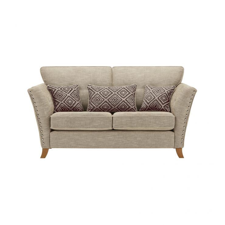 Grosvenor 2 Seater Sofa in Beige with Grey Scatters - Image 2