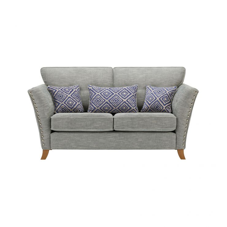 Grosvenor 2 Seater Sofa in Blue with Blue Scatters - Image 2