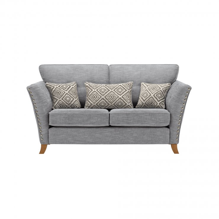 Grosvenor 2 Seater Sofa in Blue with Silver Scatters - Image 1