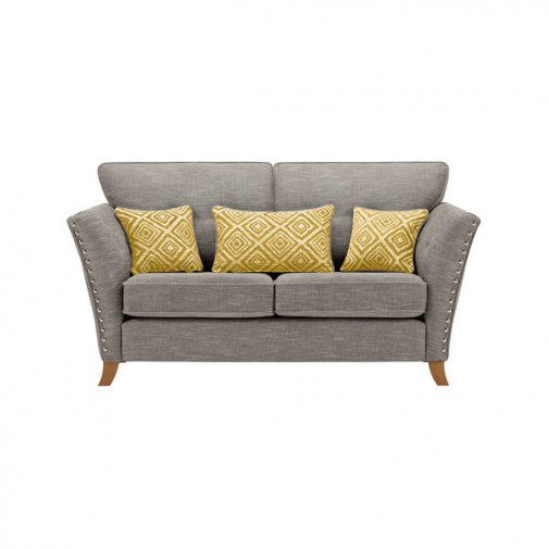 Grosvenor 2 Seater Sofa in Grey with Yellow Scatters