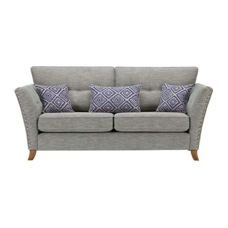 Grosvenor 3 Seater Sofa in Blue with Blue Scatters - Image 1