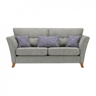Grosvenor 3 Seater Sofa in Blue with Blue Scatters