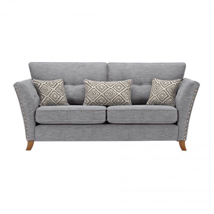 Grosvenor 3 Seater Sofa in Blue with Silver Scatters - Image 1